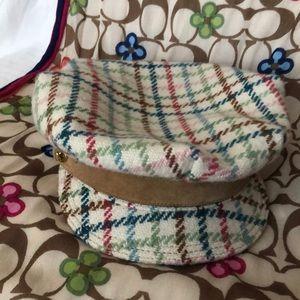 Vintage Coach Tweed multi-color hat